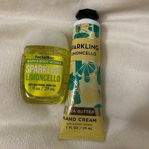 BUNDLE: candle, hand lotion, & hand sanitizer.